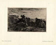 Walter Miehe 2.g. - r. - r. un zanja en el guerra Rusia pintor era * * artist 1.wk