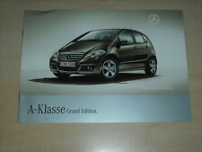 47178) Mercedes A-Klasse W169 Grand Edition Prospekt 03/2008