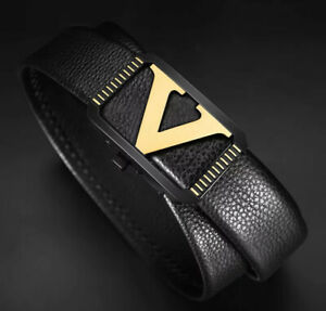 MENS DESIGNER BELTS AUTOMATIC CASUAL FORMAL 35MM REAL LEATHER S M L XL iBELTS UK