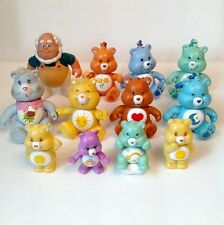 Vintage Care Bears Figures Lot Of 12 With Cloud Keeper Few Keychains