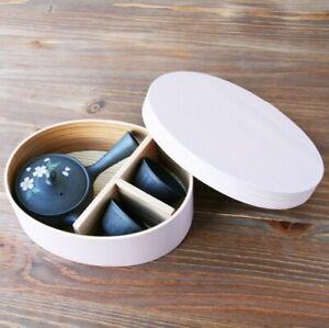 Tokoname yaki Kyusu Tea pot and cup set Gyokko paint Sakura Japan w/box japan