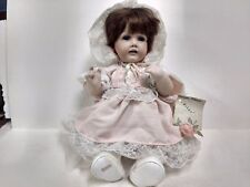 Rare German Classic Hilda Porcelain Baby Doll Pink 1989 18In 2 Front Teeth ds279