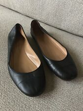 Churchs Black Leather Flats Shoes Size 39