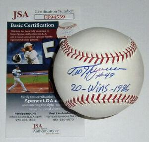 BREWERS Teddy Higuera signed baseball w/ 20 Wins 1986 JSA COA AUTO Autographed