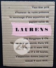 HENRI LAURENS Papiers collés CUBISME Galerie BERGGRUEN Exposition 1955