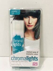 CHROMALIGHTS Instant Metallic Teal Temporary Hair Color Spray Halloween