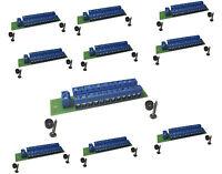 10 St. Stromverteiler Verteiler 2 Ein - 24 Ausgänge für Gleich-und Wechselstrom