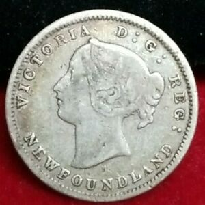 1872 5 Cents New Foundland