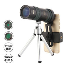 8-24x30 Zoom Monocular BAK4 Optic Lens Telescope Outdoor Travel Phone