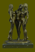 Three nude bronze Naked Girl statuettes statues Figurines by MavchiDB