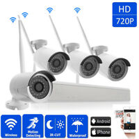 4CH 1080P Wireles NVR Outdoor Waterproof Wifi IR-CUT 960P Camera Security System