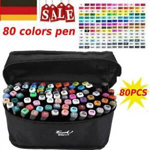 80 Farbe Marker Lackmarker Stifte Architektur Twin Tip Graffiti Draw Pens 2021DE