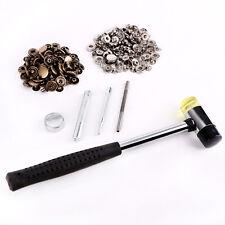 Heavy Duty Snaps 15mm x 60 Sets Jacket Poppers Fasteners Press Studs w Hammer