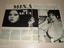 MINA MAZZINI cantante clipping ritaglio articolo foto fotografia 1967