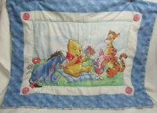 Vtg Winnie The Pooh Baby Blanket Blue Butterfly Comforter