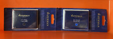 WATERMAN FOUNTAIN PEN CARTRIDGES - 8 BLUE & 8 BLACK CARTRIDGES = 16 TOTAL
