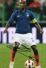 """Firmato a mano Eric ABIDAL FRANCIA 12"""" x 8"""" foto COA Barcellona Messi Maglia"""