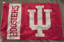 """Indiana Hoosiers NCAA Double Sided Car Flag 19""""x10"""""""