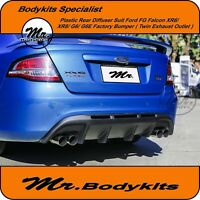 PLASTIC REAR DIFFUSER SUIT FALCON FG SERIES XR6 XR8 G6 G6E BUMPER,TWIN EXHAUST