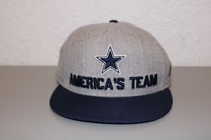 "New Era Dallas Cowboys NFL ""America's Team"" Silver Essential Hat One Size Fits"