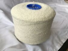 100% Wool Undyed Boucle On 850gram Cone.2/12nm Hand/machine Knit. Craft/crochet.