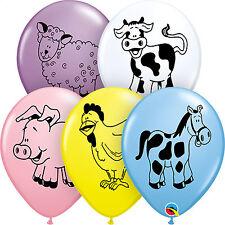 "Qualatex 25 X 11"" Latex Helium/air Balloons Farm Animal Assortment"
