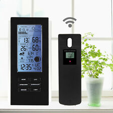 Wireless Blue LED Weather Station With Sensor Temperature Humidity Barometer