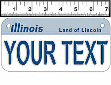 PERSONALIZED ALUMINUM MOTORCYCLE STATE LICENSE PLATE-ILLINOIS 1987