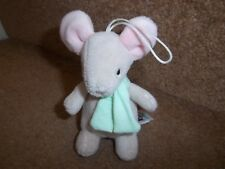 """4"""" JELLYCAT MINI LIGHT BROWN GREEN SCARF MOUSE SOFT TOY J123SH"""
