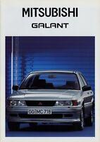 Mitsubishi Galant Prospekt 3/88 1988 Autoprospekt Broschüre brochure brosjyre