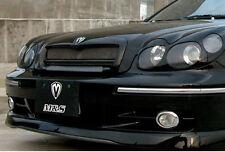 Front Hood Radiator Grill PAINTED Glossy Black For 02 03 04 05 Hyundai Sonata