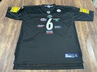 "Pittsburgh Steelers ""6 Time Super Bowl Champions"" Black NFL Football Jersey 2XL"