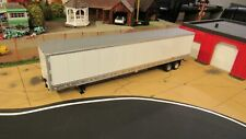 🚚 1:50 TWH / DCP UNMARKED BLANK WHITE 53' TANDEM AXLE DRY VAN SEMI TRAILER /CL