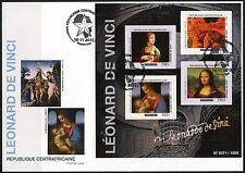 CENTRAL AFRICA  2016 LEONARDO da VINCI  PAINTINGS  SHEET FIRST DAY COVER
