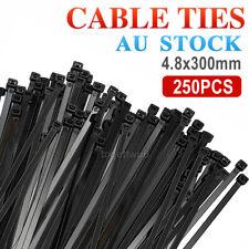 100 5001000PCS Cable Ties Zip Ties Nylon UV Stabilised 4.8x300mm Bulk Cable Tie