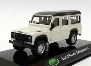 Land Rover Defender 110 Burago Modellino Auto Jeep 1:47 Die Cast Bianco o Verde
