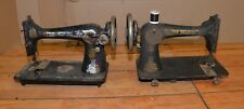 2 antique Singer sewing machines model 66 27 1924 & 1910 collectible lot