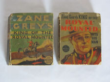 Lot of 2 Zane Grey Big Little Books King of the Royal Mounted Gets His Man 1936