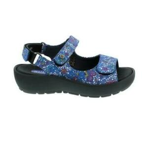 Wolky Rio Mosaic, Sandal, Suede (Printed Velour), Royal-Blue (Blue), 0332542