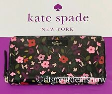 Kate Spade Boho Floral Daycation Neda Zip Around Continental Clutch Wallet P1
