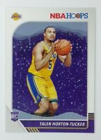 2019-20 Panini NBA Hoops Winter Talen Horton-Tucker Rookie RC #248, Lakers