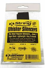Traditional Archery Bow String Whisker Silencers 4 Pc Pk Black - Tie On Easy !