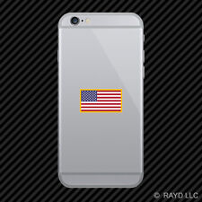 American Flag Gold Border Cell Phone Sticker Mobile USA America US flags