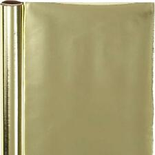 Gold Roll Of Metallic Wrapping Paper Giftswrap Home Crafts Decorations 65 gms