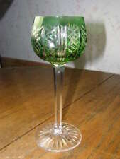 RIESLING Pattern Goblet by ST. LOUIS Cristal France - Light Green Cut to Crystal