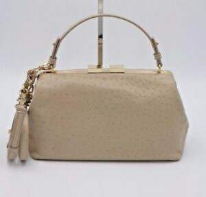 Kate Spade New York Victoria Falls Madeline Ostrich Leather Satchel Bag New $528