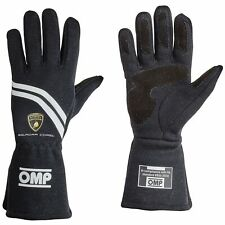 OMP Dijon FIA Approved Nomex Race Gloves Black Automobili Lamborghini Collection