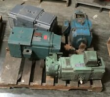Lot of (4) DC Motors 5 Hp - 20 HP  Reliance and Flextorq II with Tacometer
