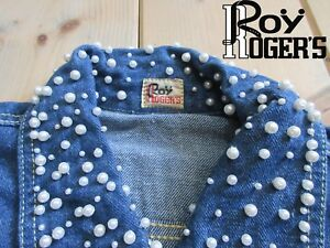 GIACCA CAMICIA JEANS ROY ROGERS TG. S BLU VINTAGE A+