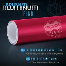 "60""x120"" Inch Pink Brushed Aluminum Vinyl Wrap Sticker Decal Air Bubble Free"